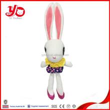 Most popular handmade customized long leg and long ear plush rabbit toy