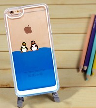 Fashion Liquid Panda Transparent Hard Back Case Cover Phone Accessoriess for Apple iphone 5