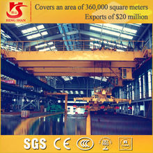 Double beam overhead crane with electric magnetic traveling eot crane