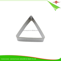 ZY-G1128A high-quality triangle shape stainless steel cookie cutter