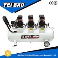 High Flow Electric Silent 5-8 Bar Oil Free Piston Dental Oilfree Air Compressor