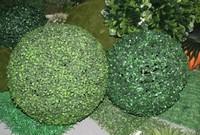 Factory price big plastic grass ball supplier for garden decoration giant plastic ball hollow plastic balls
