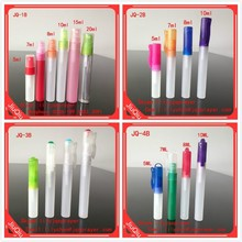 5ml,7ml,8ml, 10ml,15ml, 20ml PETG plastic perfume spray pen with spray for cosmetic use
