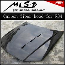 auto tuning carbon hood carbon bonnet for skyline GT-R R34 GTR