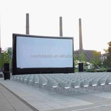 giant outdoor inflatable cinema screen for event