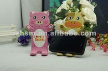 Custom Cheap Cute Cartoon 3D Soft PVC mobile phone holder