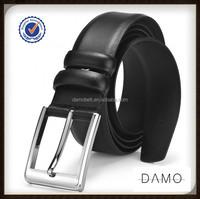 Genuine Leather Men's Pin Buckle Belt 3.3 wide for Business Men
