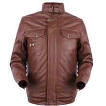 men's classic blazer leather coat denim jacket leather sleeves