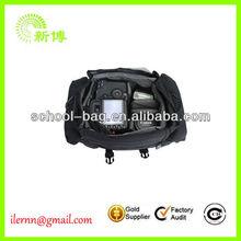 Black waterproof dslr cheap camera bag
