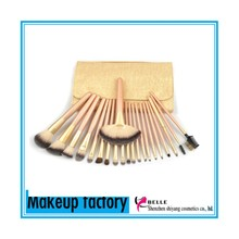 High quality most popular wood hand flower makeup brushes