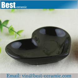 black glazed wholesale ceramic pie plate