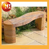 Outdoor granite and wooden long bench chair for garden furniture