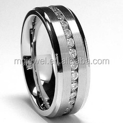 CZ Stones set stainless steel man ring with cheap cost