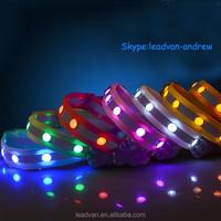 Manufacturer Supply 2015 Hot Selling Jewel LED Dog Leash/Dog Collar