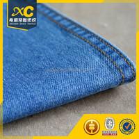 cotton polyester 9oz twill indigo colored denim fabric