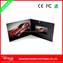 Factory directly sale LCD video brochure card OEM 3.5 inch video greeting card for Wedding/business use