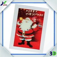 Christmas 3D Handmade Decoration Greeting Card/3D lenticular greeing card for christmas day gifts