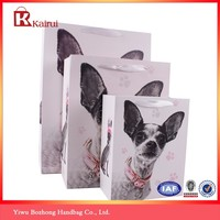 Pet dog paper bags with handles gift bags in bulk for shops
