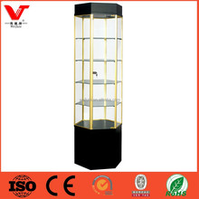 LED light wooden showcase for retail store display furniture designed