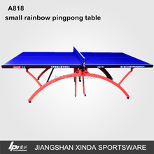 Home Recreational Small Rainbow Table Tennis Table