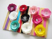 Kids Hair Accessories Fabric Plum Flower Making Head Band Baby Girl Beautiful Headbands