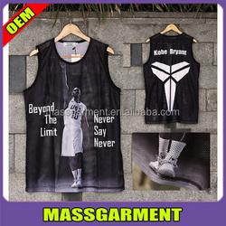 Men's mesh basketball top,tank top,vest,singlet 2015 in Jiangxi