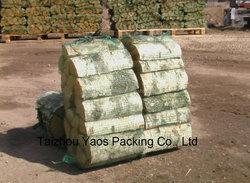 green firewood bag PP leno mesh bag plastic plain mesh bag drawstring bag