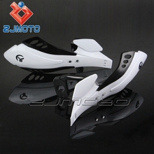 "ZJMOTO motorcycle part Brush Bar 7/8"" 22mm White Dirt bike handguard, hand guards fit for RMZ RM KX SX KTM"
