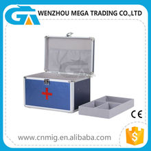 Profession High Quality Blue Aluminum Promotion Gift First Aid Box