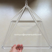 Crystal singing pyramids,quartz crystal pyramid therapy for sound,meditation crystal pyramid