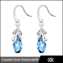 Made With Swarovski Elements Genuine Austrian Crystal Jewelry Eardrop Ladies Ear Rings for Women