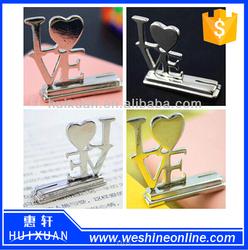 2015 fancy design LOVE place card holder Alloy card holder as wedding souvenir gifts