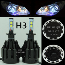 MACAR factory supply car h3 led headlight bulb for parts 2005 toyota corolla