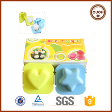 Kitchen Accessories Food Grade Plastic Heart and Star Shaped Boiled Egg Mold