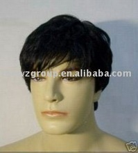 Hot fashion handsome short human hair wig for man/toupee for man