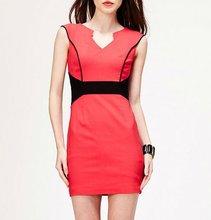 V-neck summer dress direct garment factory
