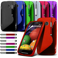 for motorola moto E gel TPU s wave case