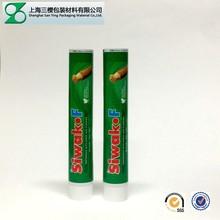 Offset printing plastic aluminum toothpaste tube