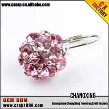 New product 2015 fashion Romantic Pink Diamond earrings