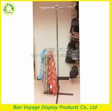 flooring metal retail scarf and hat display rack
