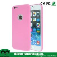 Matte multi color ultra thin soft TPU pink blank phone case for iphone 6/ 6s
