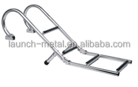 Folding Ladder with Handrail AISI316 for boat, highly polished with adjustable stand bar, anti-sliding step
