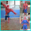 traje de la mascota del hombre araña