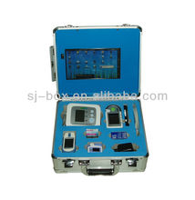 aluminum instrument case with foam padding for medical device