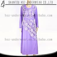 MD 3037 Hot sale beaded baju kurung modern 2015 long sleeve muslim maxi baju kurung songket high quality muslim silk baju kurung