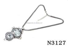 N3127 Fashion Big Shining Crystal Pendant Necklace