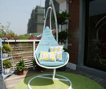 Hanging egg chair with stand/rattan hanging egg chair/indoor hanging swing egg chair