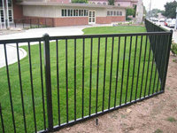 5 foot high by 7.8 foot long Hot-dip galvanized aluminum garden fence with best quality