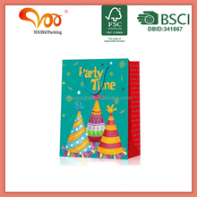 OEM wholesale manufactory gift paper wrapping pkg 3D animal OEM foil stamping pp rope birth party cloths bag