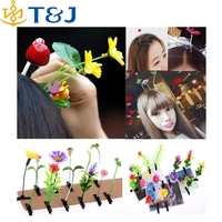2015 hot fashion flower hairpins for kids/adult cute plants hairpin resin hair clips/